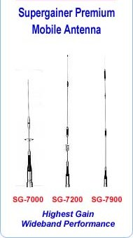 Amateur Mobile  Dual & Tri band Antennas