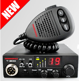 Thunderpole T-800 12v FM/AM CB Radio, IN STOCK